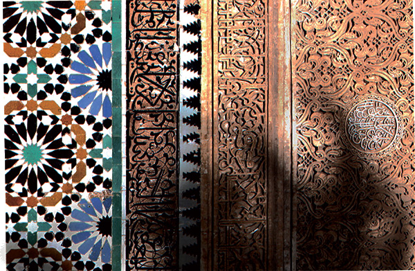 Moroccan painted wood detail - photo by Richard E. Jones