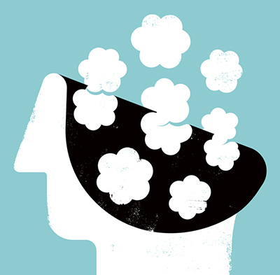 illustration 的 a head in the clouds