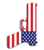 gun with american flag pattern